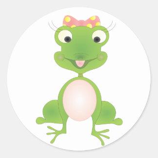 Hoppy's Girl Round Sticker