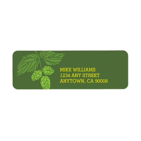 Hops Address Label, Beer Tasting Party