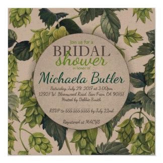 Hops, Beer Bridal Shower Card