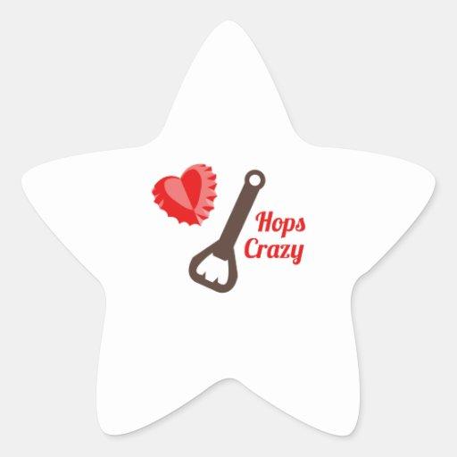 Hops Crazy Star Stickers