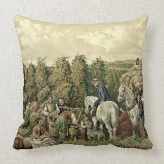 Hops Harvest 1857 Cushion