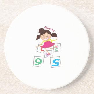 Hopscotch Girl Beverage Coasters