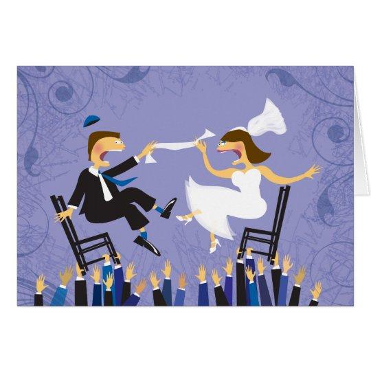 Hora Chair Dance Jewish Wedding Thank You Card