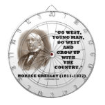 Horace Greeley Go West Young Man Go West Dart Board