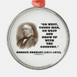 Horace Greeley Go West Young Man Go West Christmas Ornaments