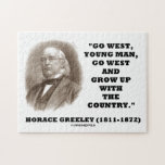 Horace Greeley Go West Young Man Go West Jigsaw Puzzles