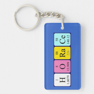 Horace periodic table name keyring key chain