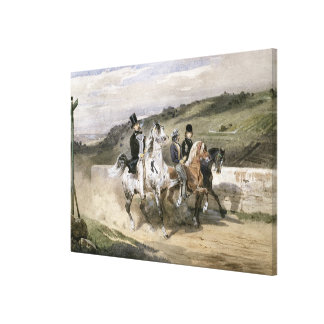 Horace Vernet and his Children Canvas Print