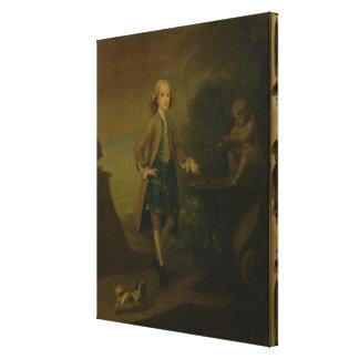 Horace Walpole, aged 10, 1727-8 Canvas Print