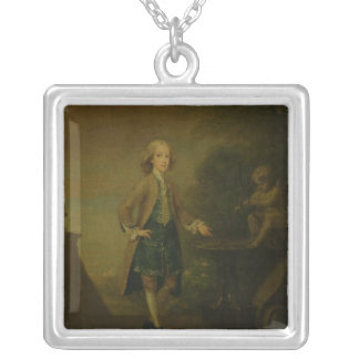Horace Walpole, aged 10, 1727-8 Silver Plated Necklace