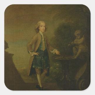 Horace Walpole, aged 10, 1727-8 Square Sticker