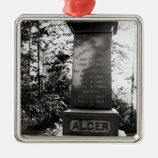 Horatio Alger's grave in Natick, Massachusetts Christmas Ornament