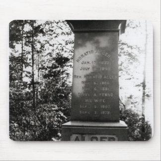 Horatio Alger's grave in Natick, Massachusetts Mouse Mat