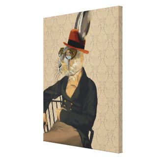 Horatio Hare on Chair Canvas Print