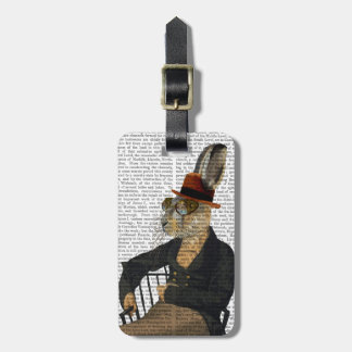 Horatio Hare On Chair Luggage Tag