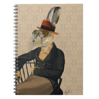 Horatio Hare on Chair Spiral Notebook