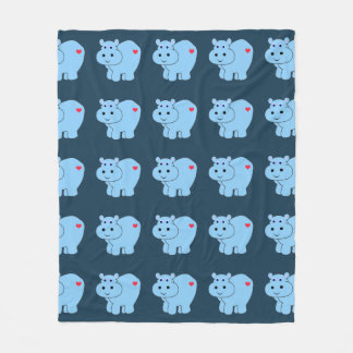 Horatio Hippo - Kids Fleece Blanket