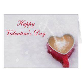 "Horiz. ""Happy Valentine's Day"" Cocoa in the Snow Card"