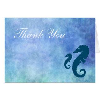 Horiz. - Seahorse Thank You Card