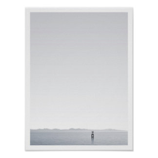 """Horizon"" -  Black & white photography Poster"