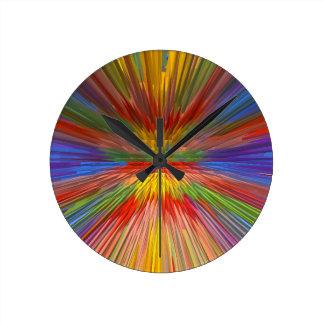 HORIZON Rainbow Colorful Stripe Romantic Gifts fun Wall Clock