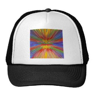 HORIZON Rainbow Colorful Stripe Romantic Gifts fun Mesh Hat