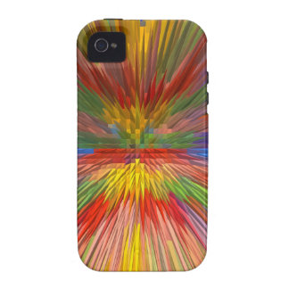 HORIZON Rainbow Colorful Stripe Romantic Gifts fun iPhone 4 Case