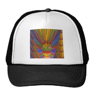 Horizon Sunset Golden Sparkles DIY Gifts COLORFUL Mesh Hats