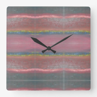 """Horizons"" Abstract Design Square Wall Clock"