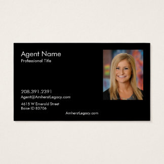 Horizontal Amherst Madison Business Card w/ Photo