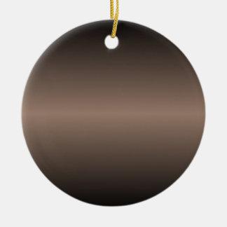 Horizontal Beaver and Black Gradient Round Ceramic Decoration