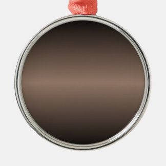 Horizontal Beaver and Black Gradient Silver-Colored Round Decoration