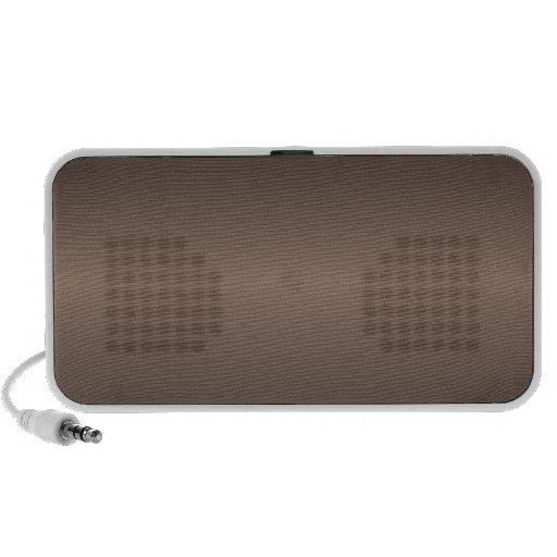 Horizontal Beaver and Black Gradient Mp3 Speakers