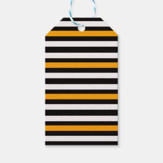 Horizontal Black With Orange Gift Tags