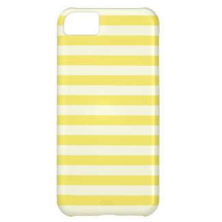 Horizontal Broad Stripes - Light Yellow and Corn iPhone 5C Case