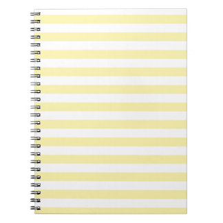 Horizontal Broad Stripes - Light Yellow and Corn Spiral Notebook