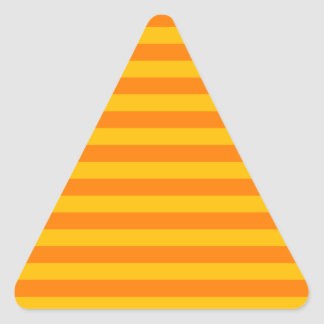 Horizontal Broad Stripes - Orange and Amber Triangle Sticker