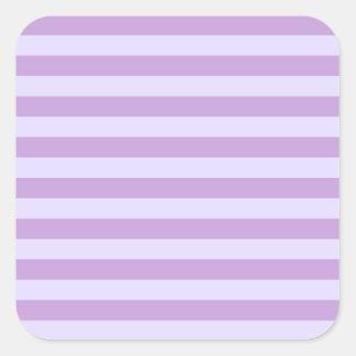 Horizontal BroadStripes-Wisteria and Pale Lavender Sticker