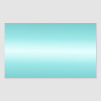 Horizontal Celeste and Teal Gradient Sticker