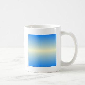 Horizontal Cream and Azure Gradient Basic White Mug