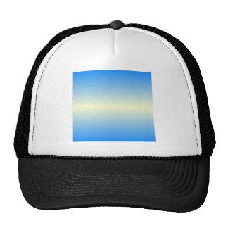 Horizontal Cream and Azure Gradient Mesh Hats
