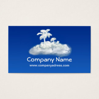 horizontal design tourism agency business card
