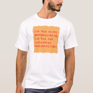 horizontal disadvantages T-Shirt