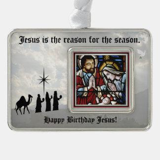 Horizontal Framed Ornament Jesus is the Reason