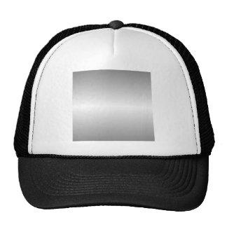Horizontal Gray and White Gradient Trucker Hat