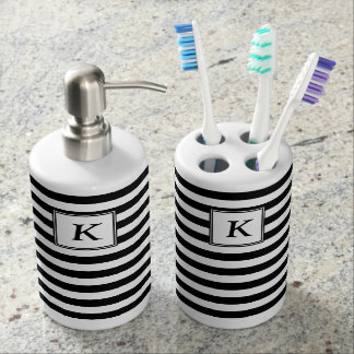 Horizontal Lines Soap Set Black & White