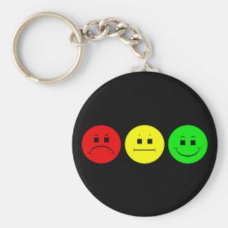 Horizontal Moody Stoplight Key Ring