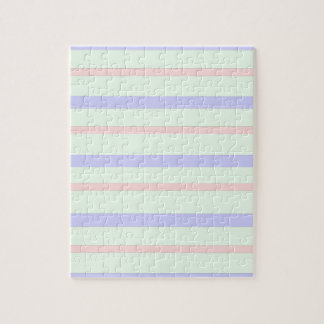 Horizontal Pastel Stripes Jigsaw Puzzle