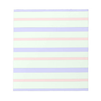 Horizontal Pastel Stripes Notepad