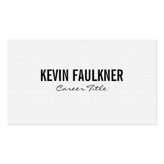 Horizontal Print   White & Grey Pack Of Standard Business Cards